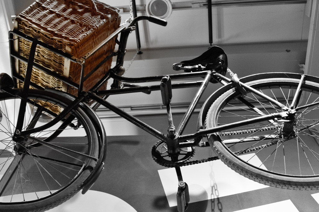 old bike hanging