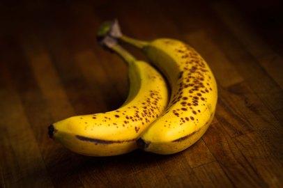 ripe organic bananas