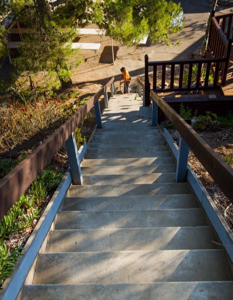 57 steps swept