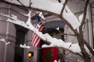 snowy residence