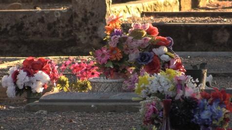 headstone flowering