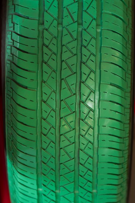 green tyre