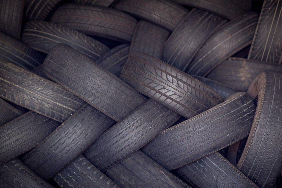 worn down tires