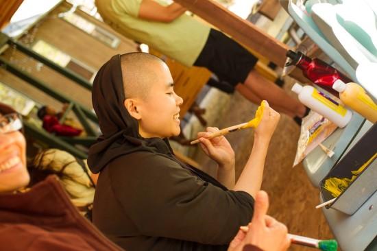 painting nun
