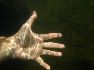 underwater hand