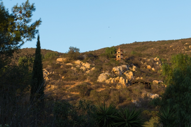 stupa hillside