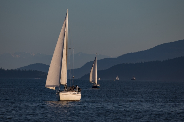sailing into Bellingham
