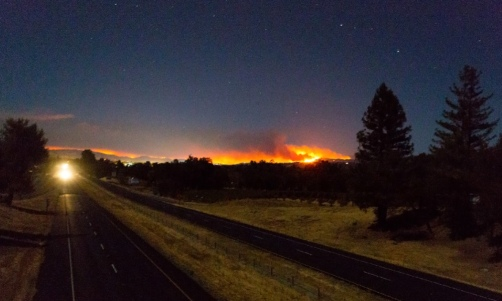 mendocino hills burning