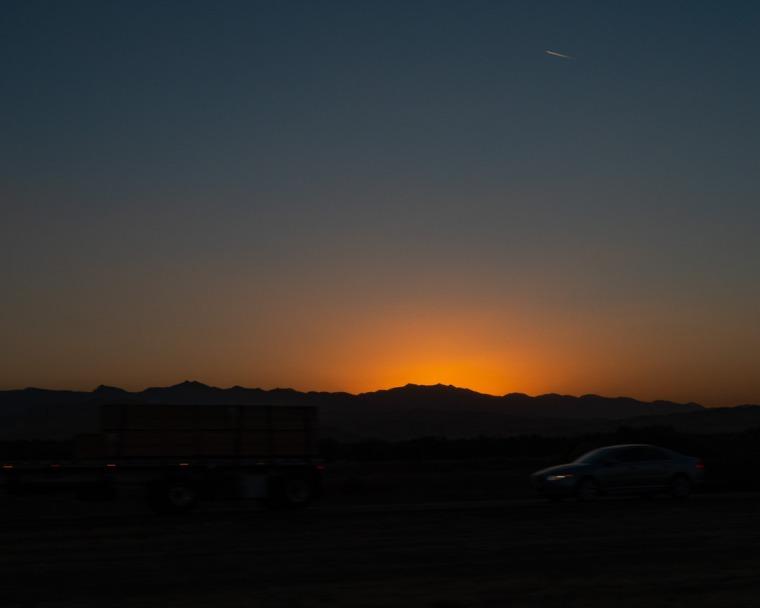 bright calmness amidst freeway frenzy