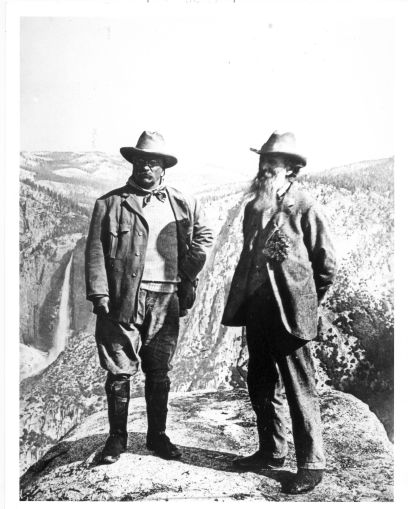 Teddy Roosevelt & John Muir @ Glacier Point ~whitehouse.gov