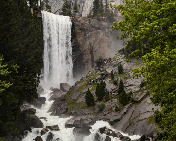 lined up at Vernal Falls ~d nelson (click to enlarge)