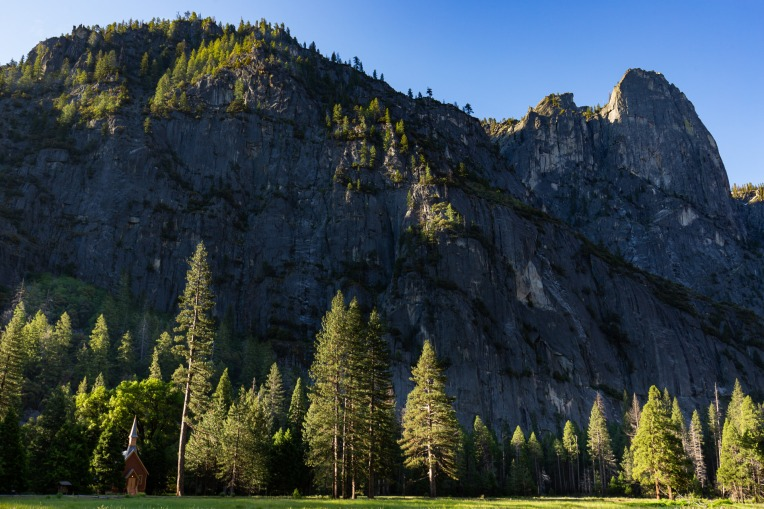 Sentinel Rock & Yosemite Valley Chapel ~d nelson (click to enlarge)