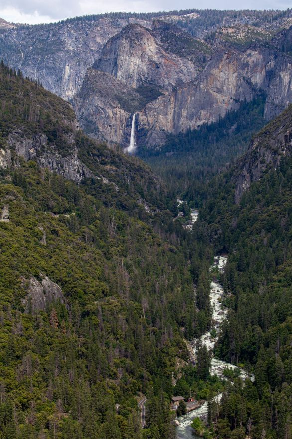Bridalveil Falls & Merced River welcomes us to the valley ~d nelson